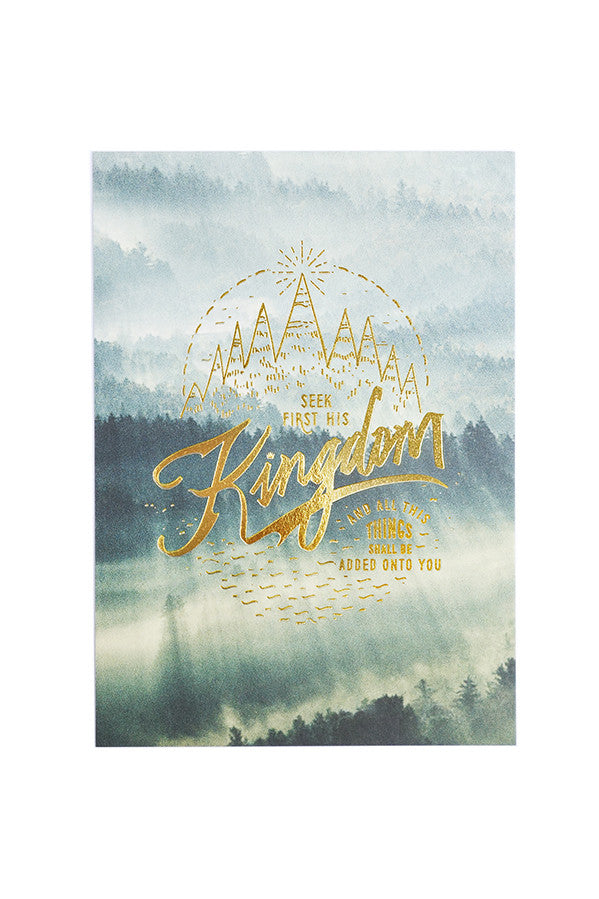 Seek First His Kingdom {Card}