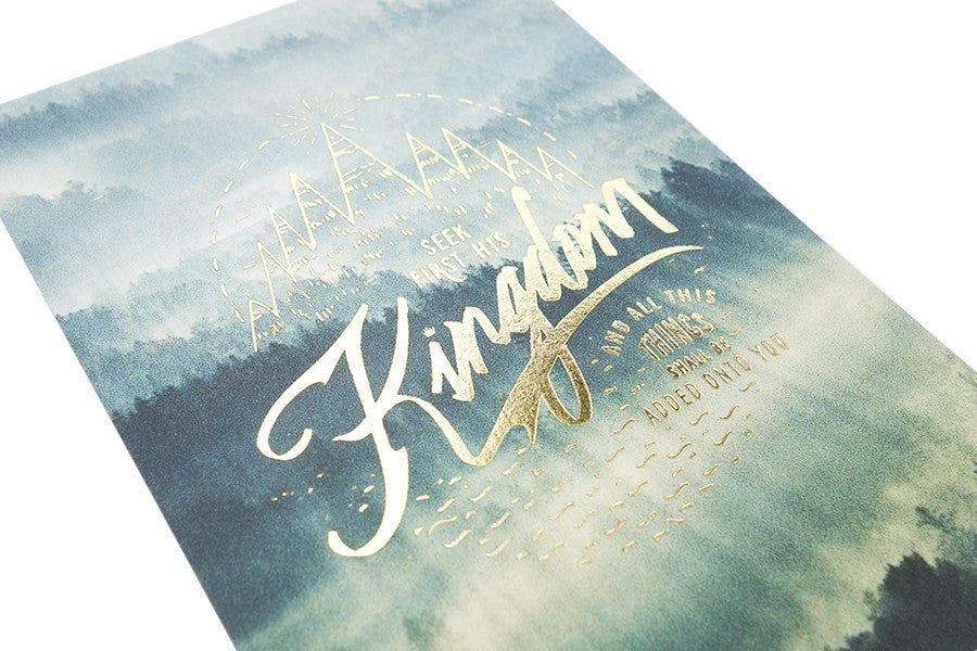 Seek first the kingdom of God card. Christian verse greeting card (250GSM Maple Paper, Printed in Singapore)
