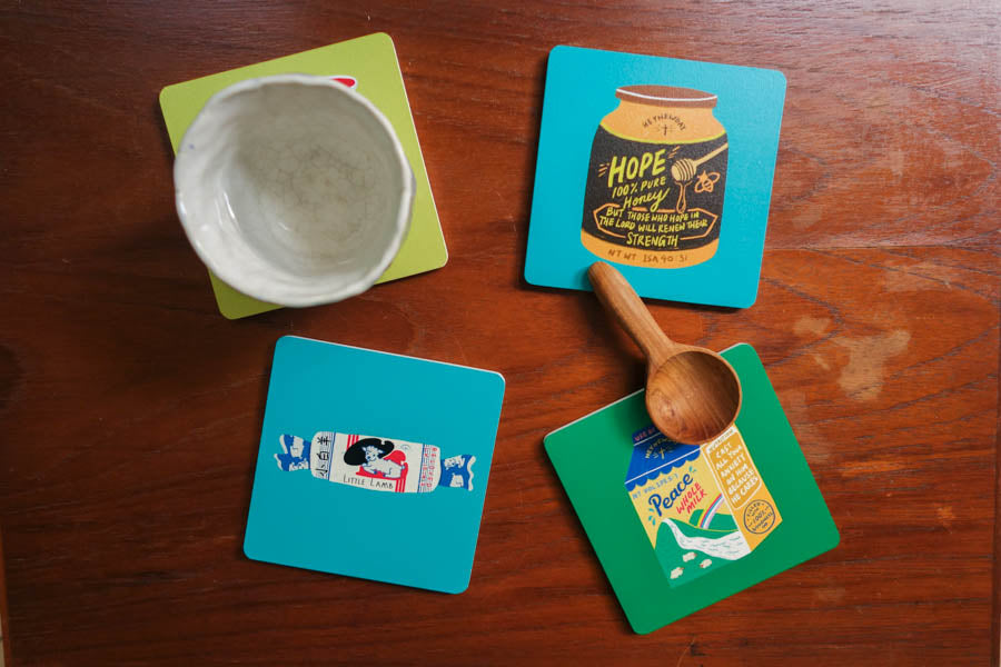 Hope Honey | Coasters {LOVE SUPERMARKET}