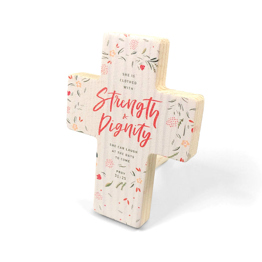 Clothed in Strength and Dignity {Table Cross}