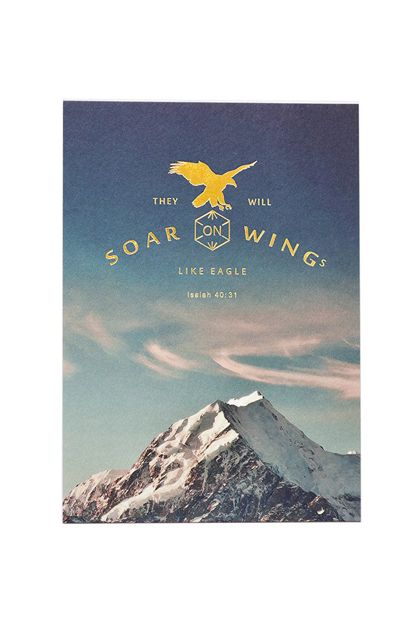 Christian verse greeting card (250GSM Maple Paper, Printed in Singapore) design: They will soar on wings like eagles.