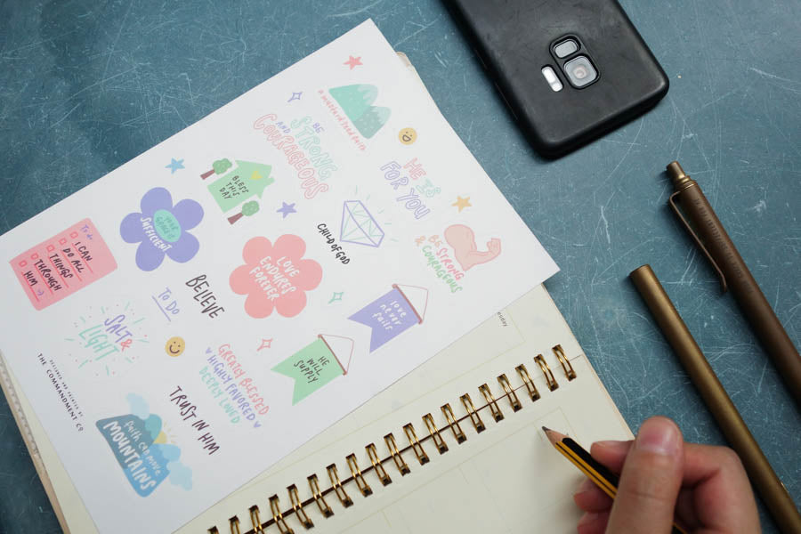 3 Pcs Mix & Match | Journaling Sticker Sheet