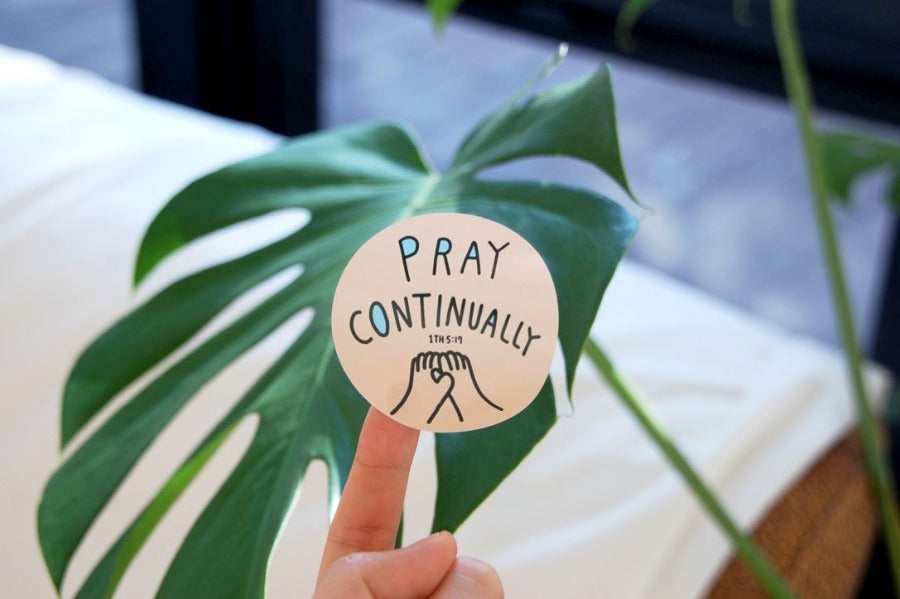 Pray continually sticker