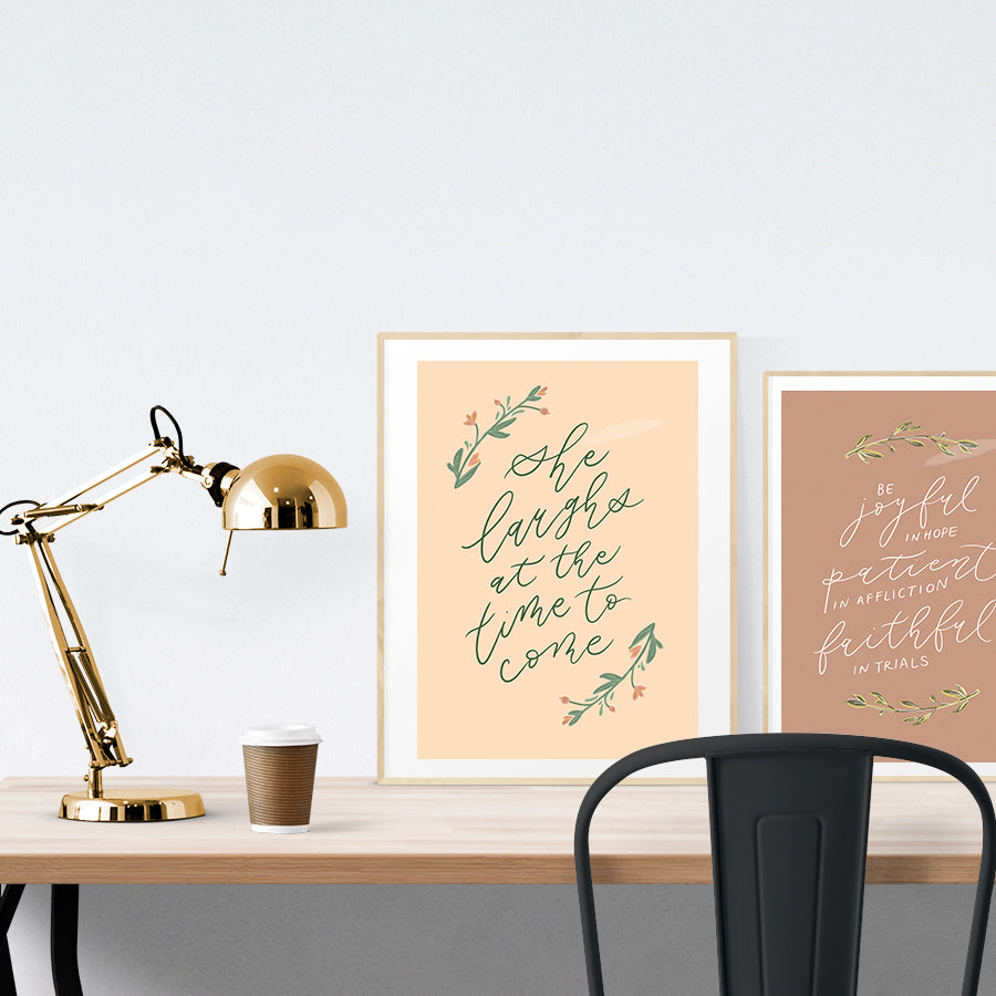 Creative posters make inspiring home decor ideas! This one is perfect as a reminder that there is a time for everything, and God is in control of all the seasons in our lives.