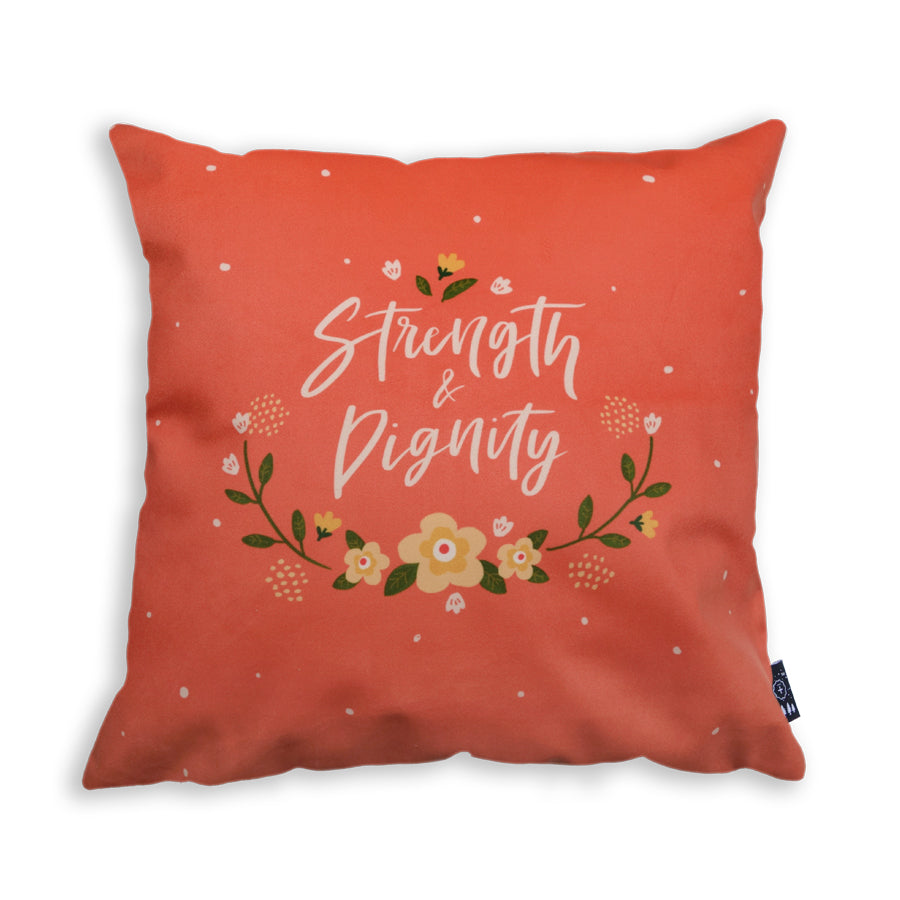 She is clothed with strength and dignity, and she laughs without fear of the future bible verse inspired design