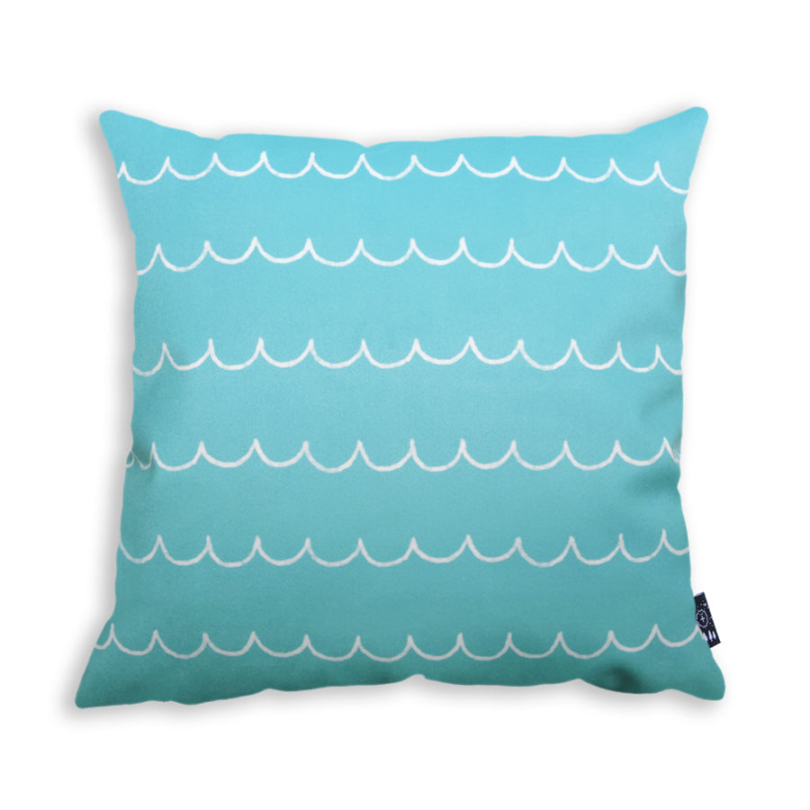 The back of the pillow is light blue and has waves detailings. Perfect cushion covers to put on couch