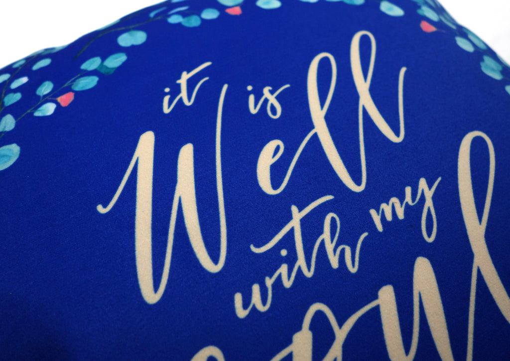It Is Well {Cushion Cover}