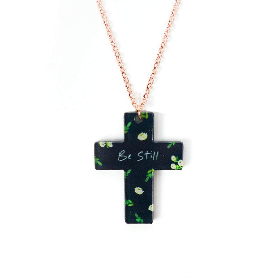 Be Still {Cross Necklace}