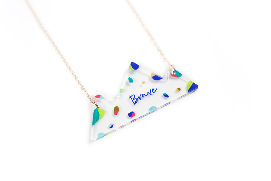 Brave {Mountain Necklace}