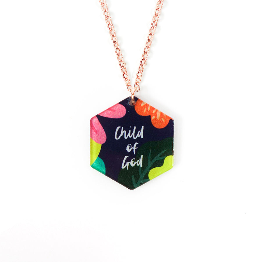 Child Of God {Hexagon Necklace}