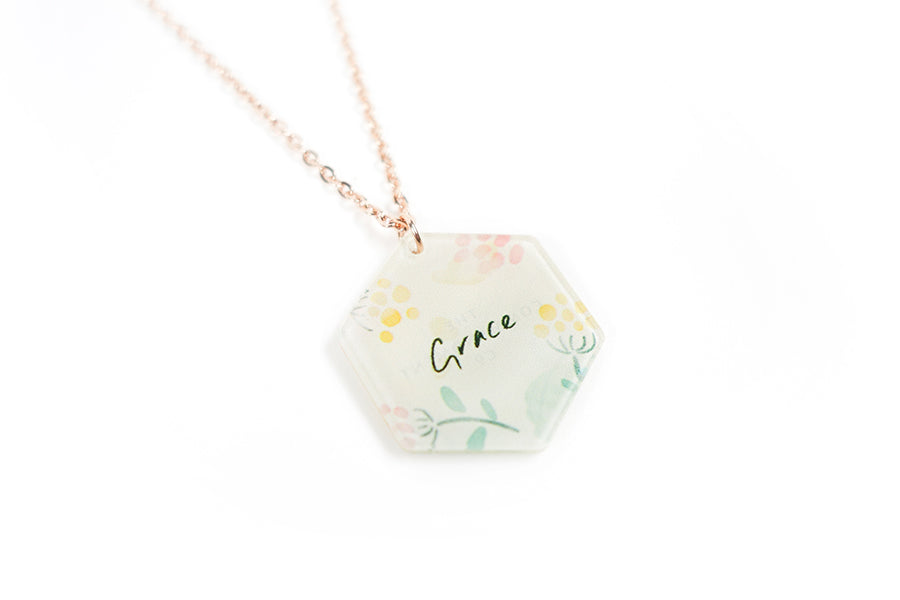 Grace {Hexagon Necklace}