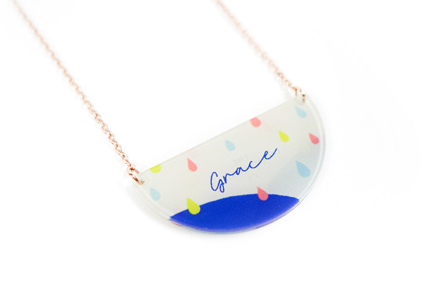 Grace {Semicircle Necklace}