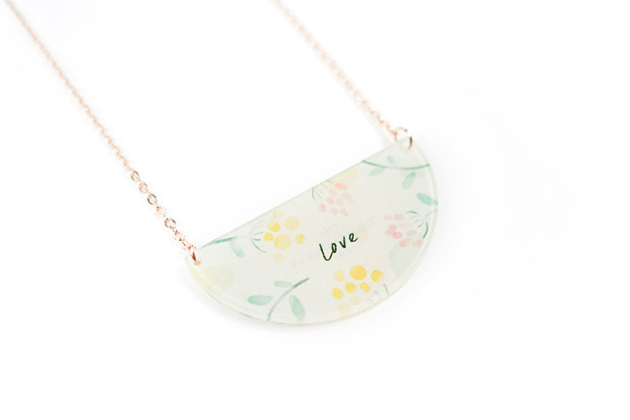 Love {Semicircle Necklace}
