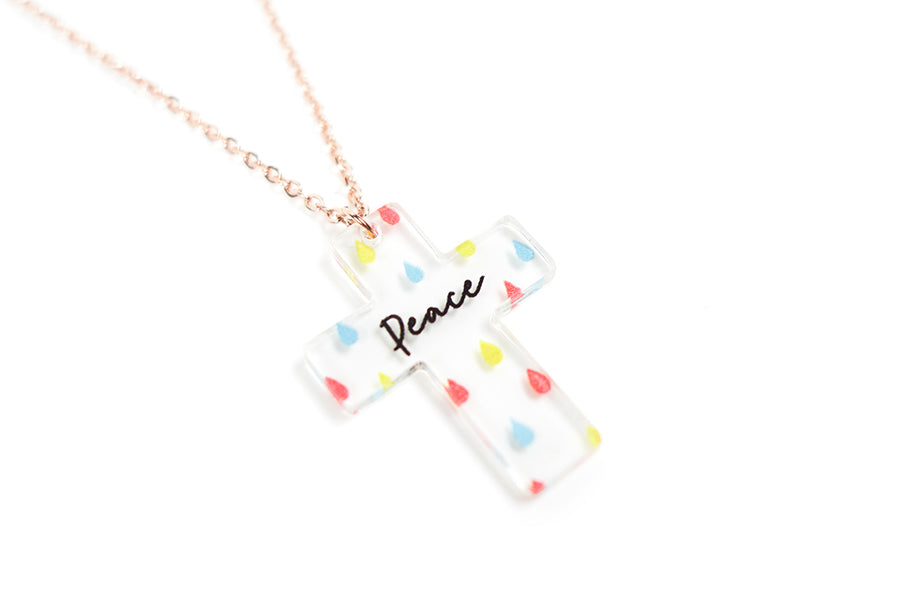 Peace {Cross Necklace}