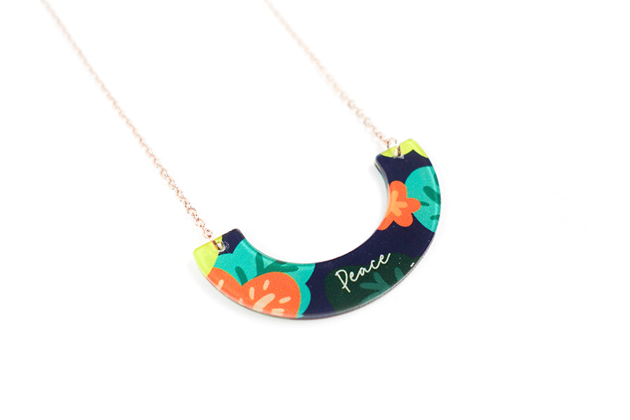 Peace {U-Shape Necklace}