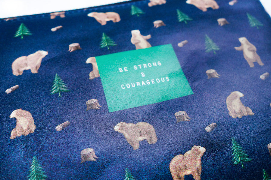 Be Strong & Courageous {Pouch}