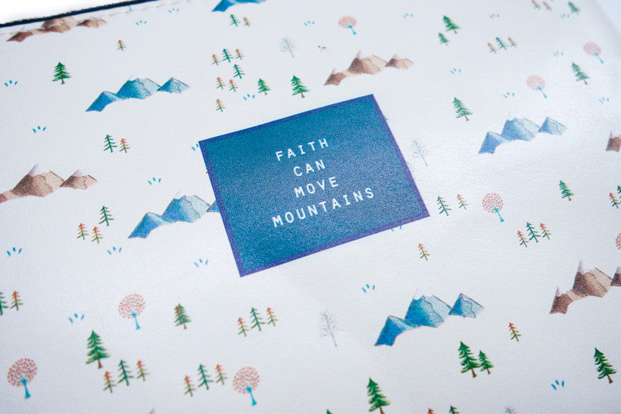 Faith Can Move Mountains {Pouch}