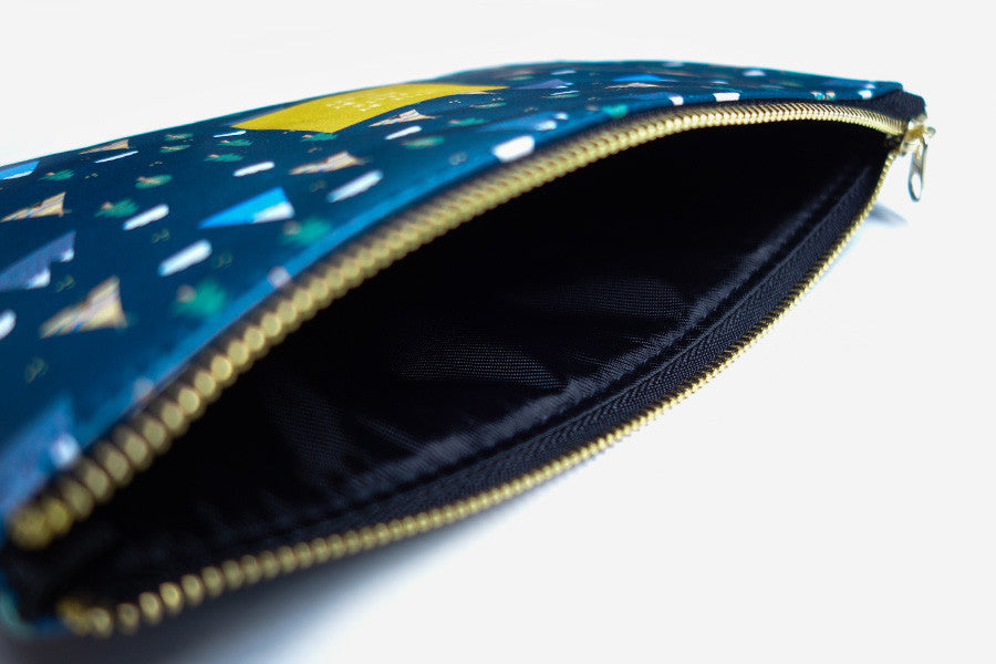 Multipurpose pouch can act like a wallet, pencil case, makeup pouch. It is spacey enough to store everything you need