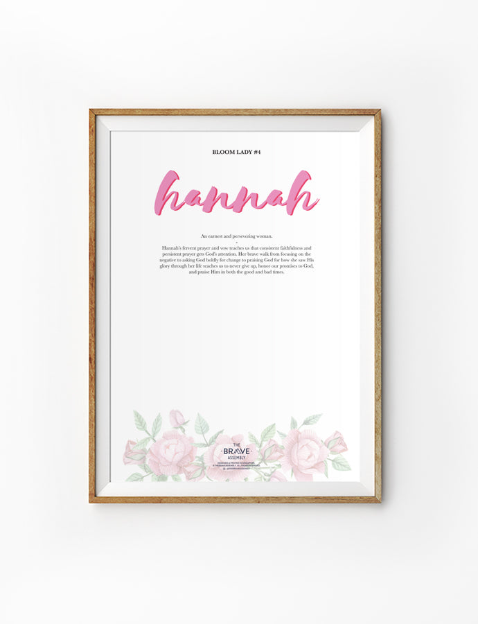Hannah was a lady who is earnest and sincere.