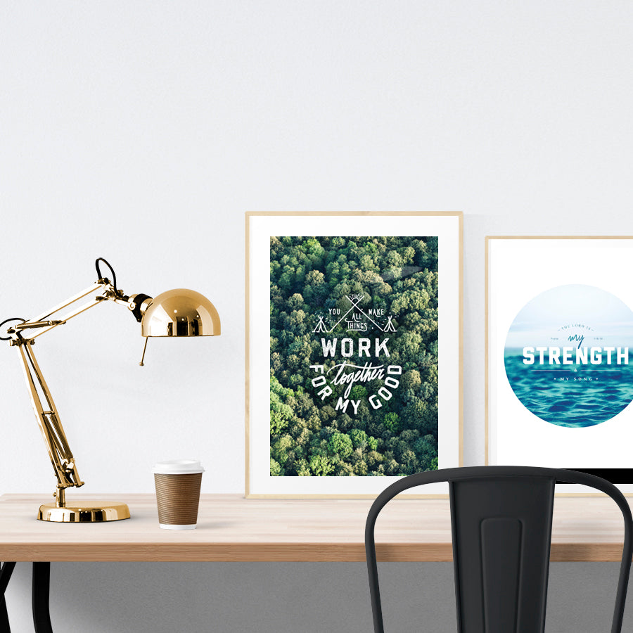Add a splash of greenery and nature into your living room with this exclusive poster. Available in A3 and A4