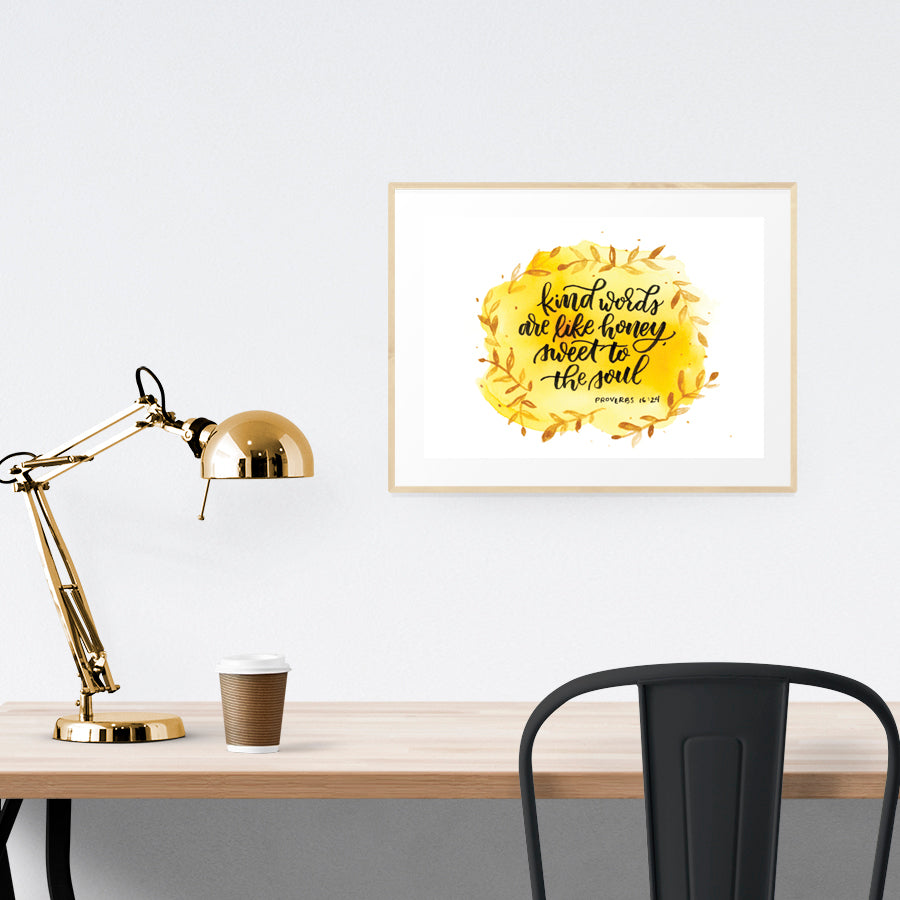 Creative posters make inspiring home decor ideas! This one is perfect as a reminder that kindness is a virtue and we need to be kind to others.