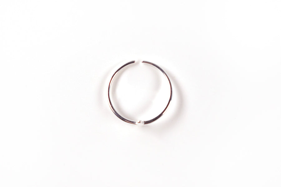 Top view of Cross ring S925 Silver Plated. Measurements: Adjustable to fit. Ring Diameter 16mm - 22mm