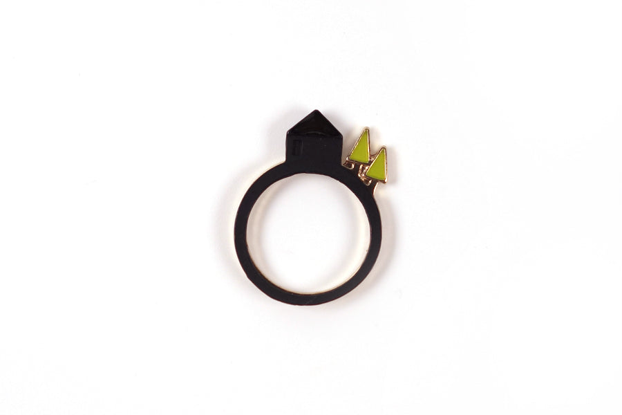 Matching ring for couples. City on a hill ring comes in black and gold variation too. Great meaningful creative gifts.