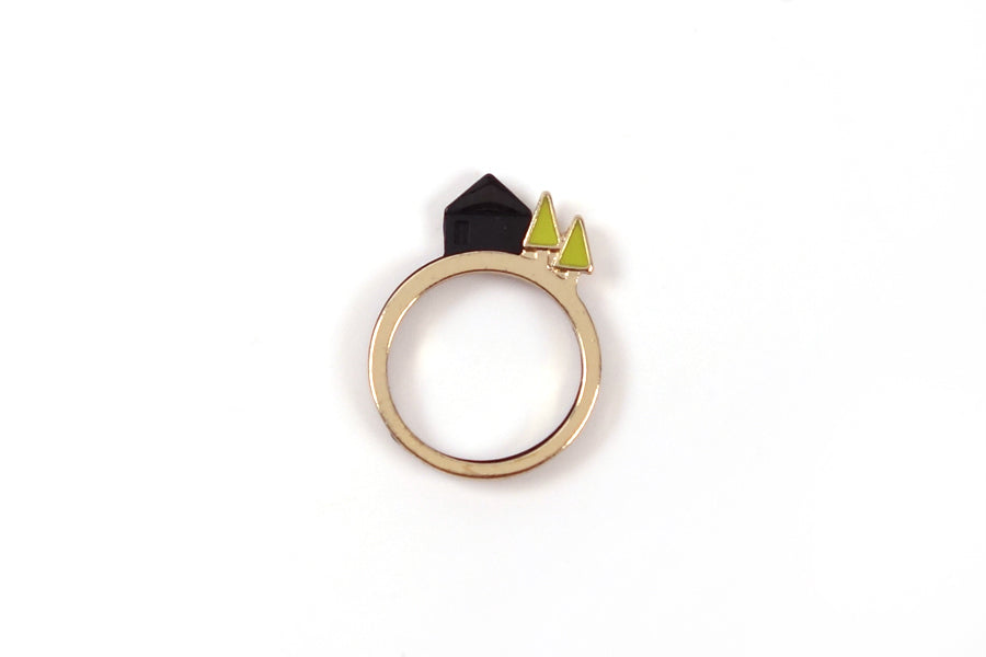Gold & Black variation in ring is made of Gold & Black Plated Alloy