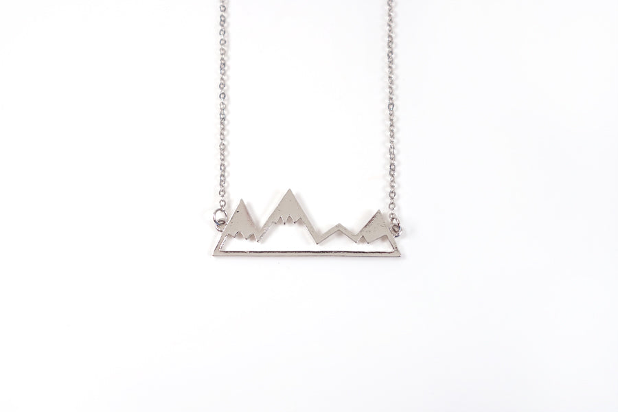 Silver color - Silver Plated Alloy Mountain necklace reminds us that God is able to move all the mountains in our lives. Inspiring graduation gift ideas