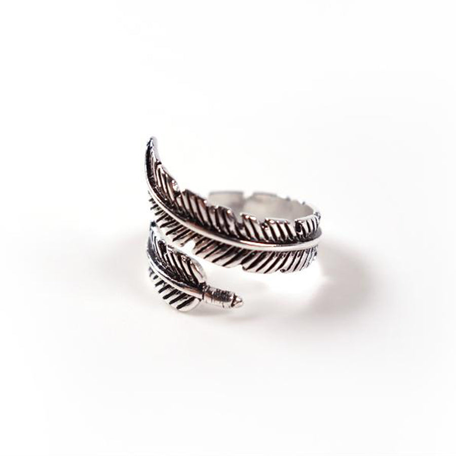 Creative fashion jewellery. Ring in the shape of a feather. Just like how God will protect you all around under His wings, this ring will go around you