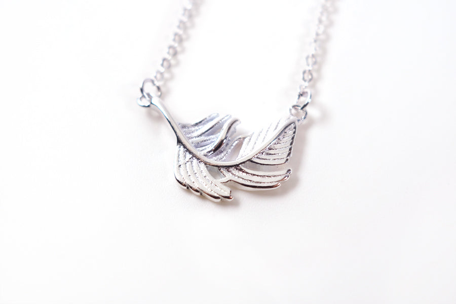 Stainless steel feather pendant will not decay with time and will continue to make its wearer feel special