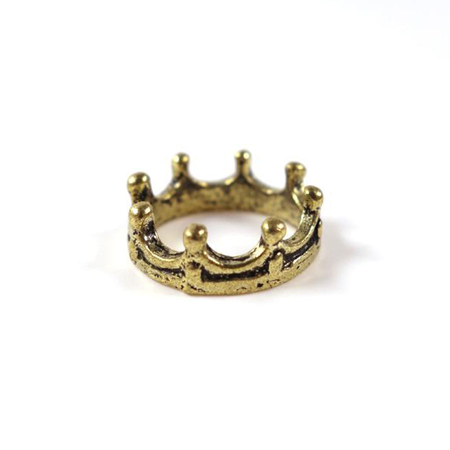 Crown ring made of Gold plated alloy. Statement rings. Reminder that God is the King of Kings and Lord of all.