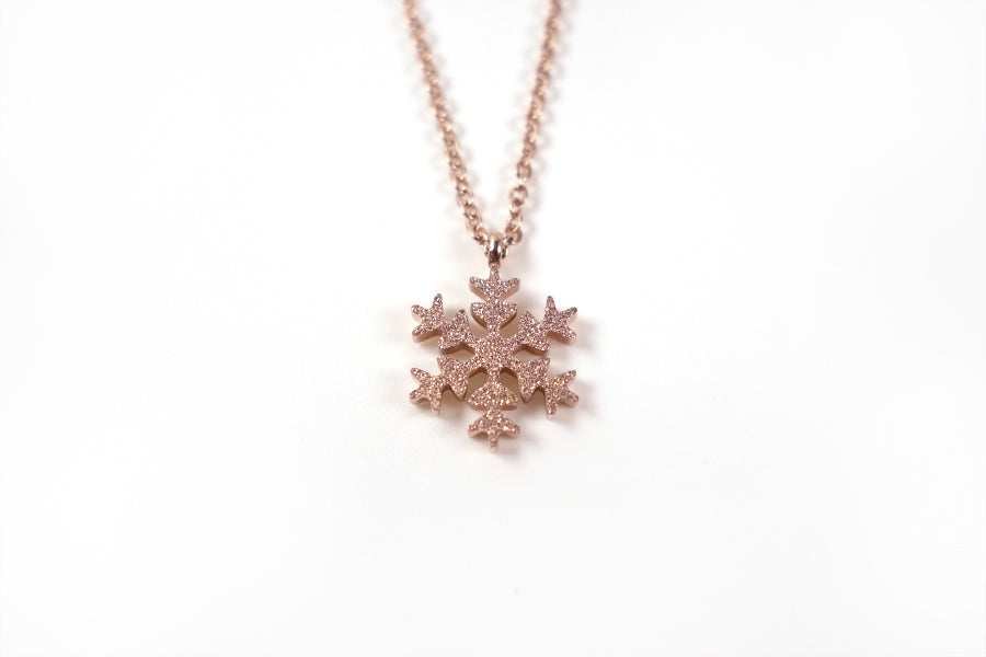Snowflake necklace is perfect as gift for birthdays, anniversary or as a loving reminder of God's forgiveness and renewal.