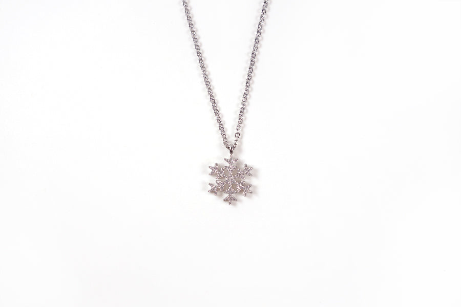 The snowflake necklace is also a unique gift for any girl on her confirmation, baptism or graduation.