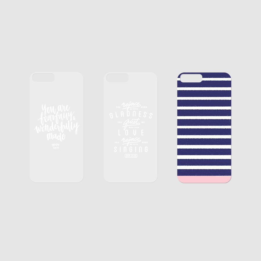 Three Modicase films (2 verse and 1 background) for personalising Iphone cases.
