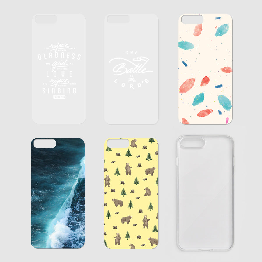 Five Modicase films (2 verse and 3 background) and a free clear Iphone case to personalise your own Iphone case.