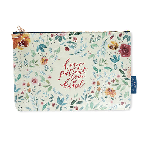 Love Is Patient Love Is Kind {Pouch}