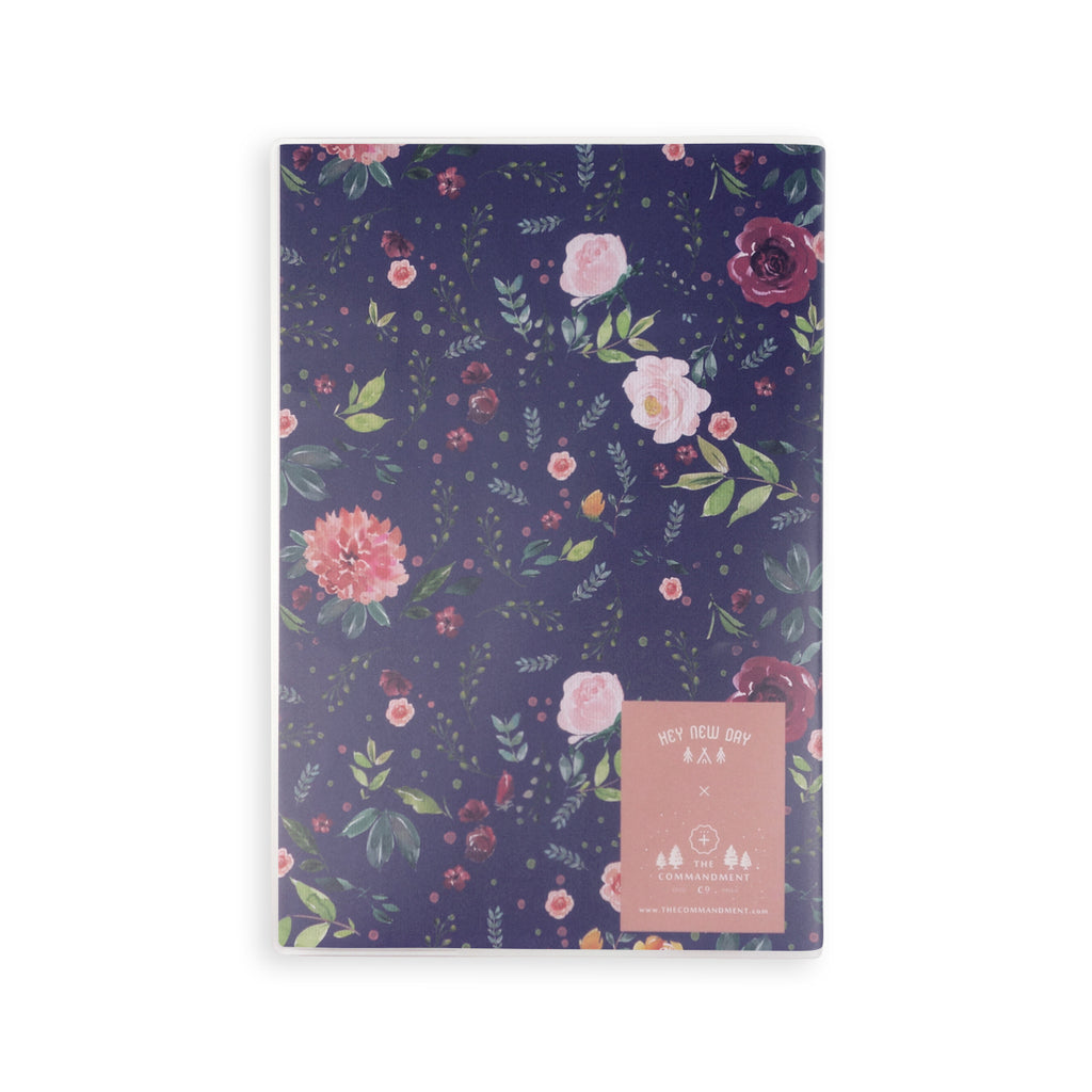 Back view of the garden theme notebook. There is a TCCO logo at the bottom right corner.