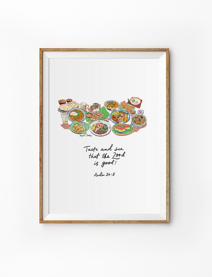 Taste and See (Foodie V1) {Poster}