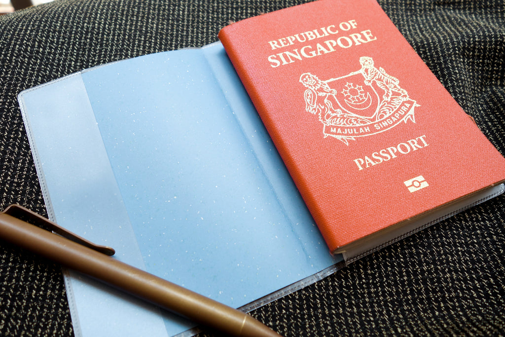 The passport cover nicely fits Singapore passport.
