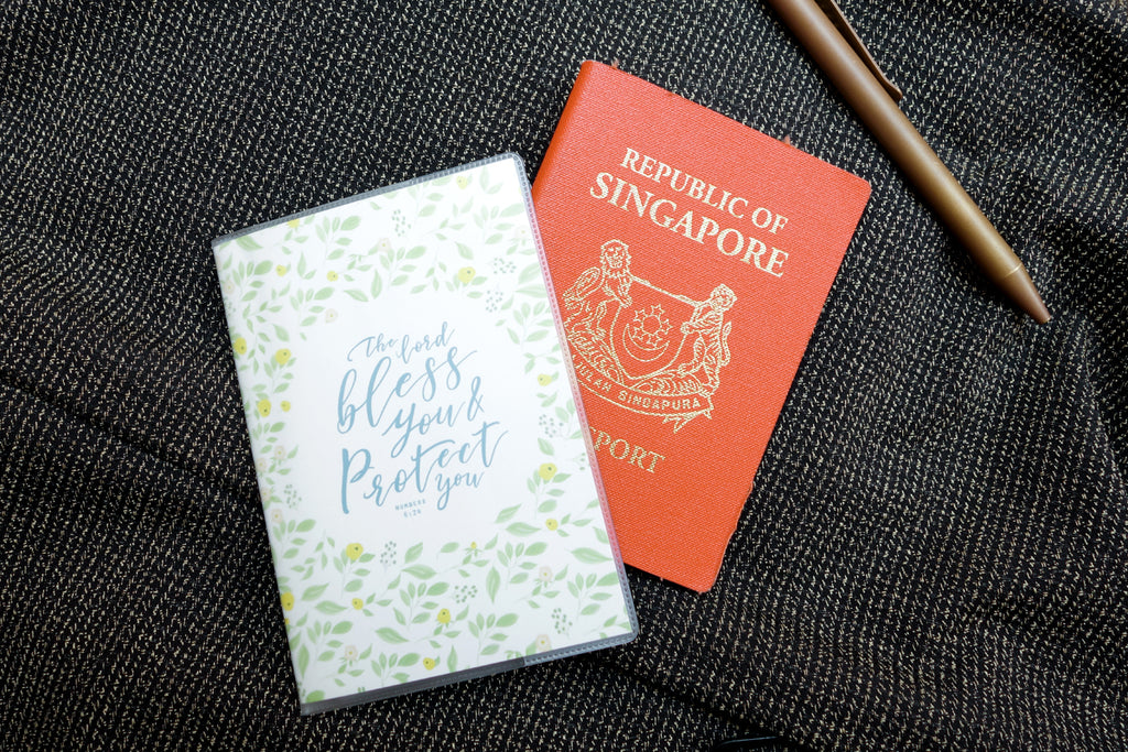 Bless And Protect {Passport Cover}