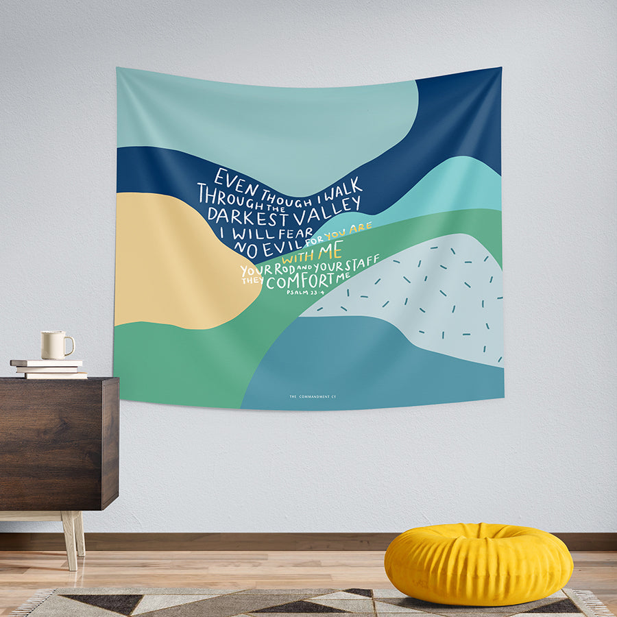 For You Are With Me {Wall Tapestry}