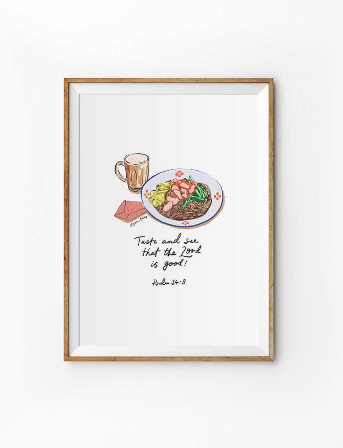 Taste and See (Wonton Noodles) {Poster}