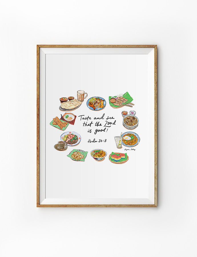 Taste and See (Foodie V2) {Poster}