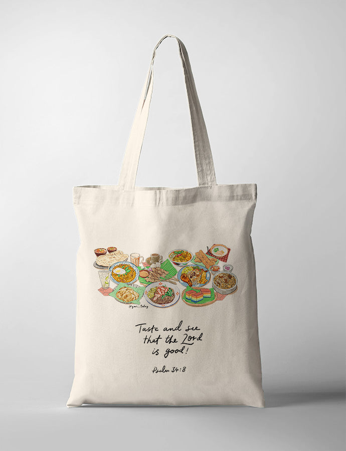 Taste and See (Foodie V1) {Tote Bag}