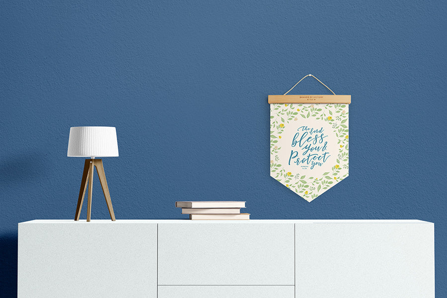 Modern home deco the Lord bless you and protect you banner of victory by TCCO