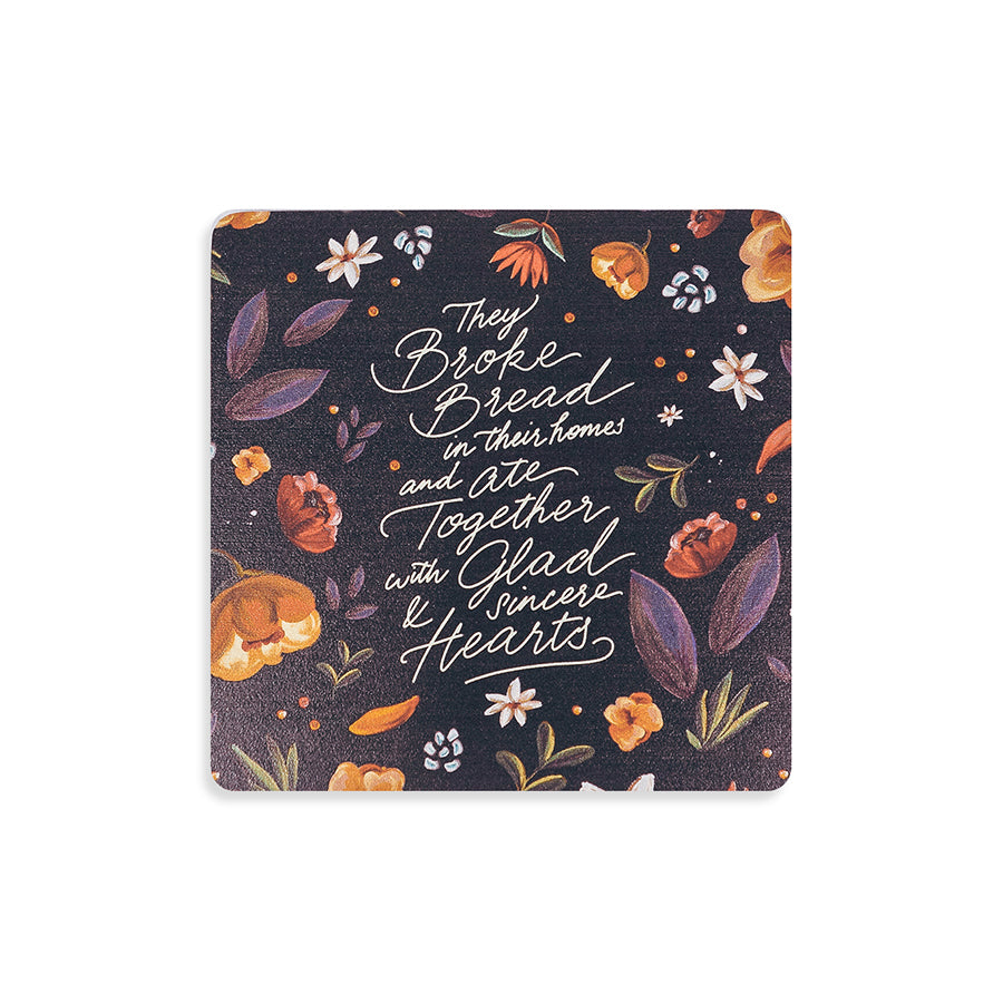 Eat Together With Glad And Sincere Hearts {Coasters}