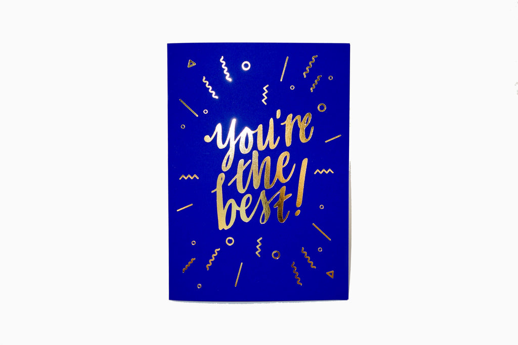 You're the best greeting card front design in blue