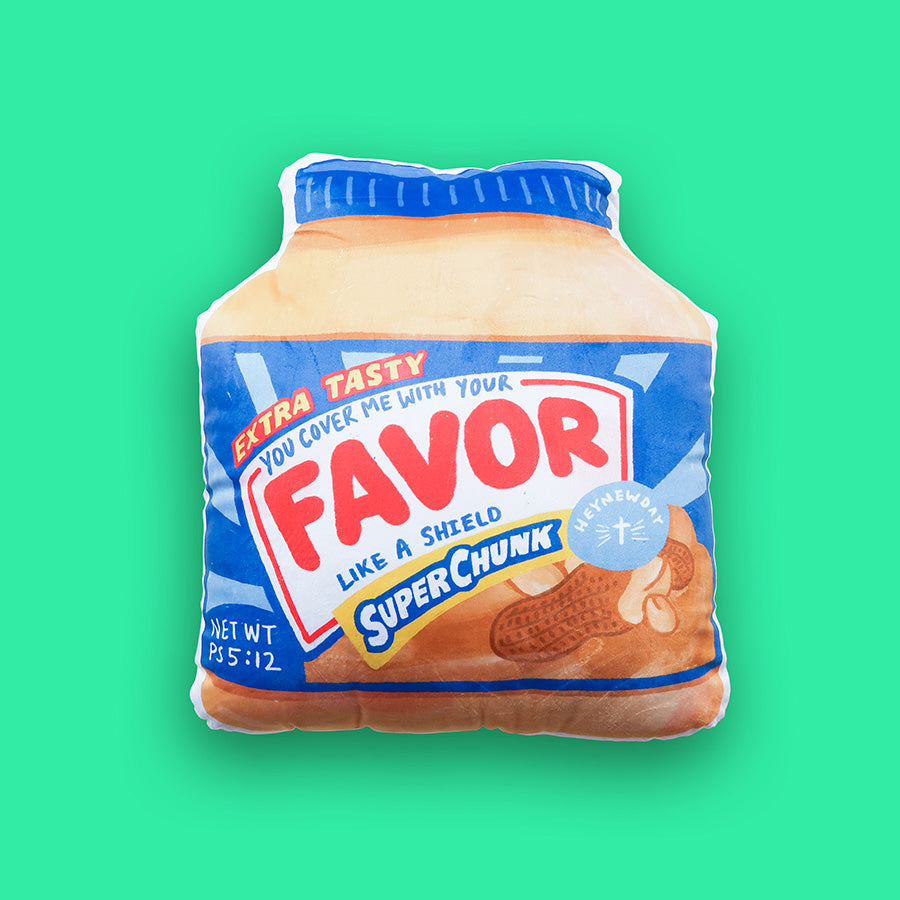 Extra tasty favor like a shield peanut butter plush toy designed by The Commandment Co