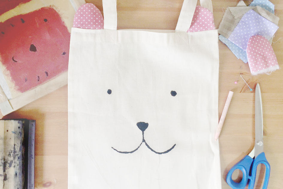 The Commandment Co Workshop x Gewwybeans x Wheniwasfour - Animal Tote Bags with Ears Dog